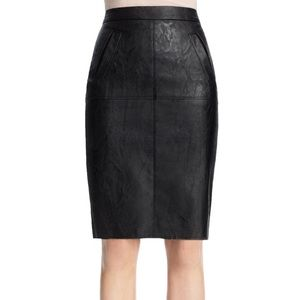 CAbi Faux Leather Pencil Skirt